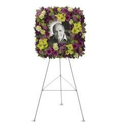 Mosaic of Memories Square Easel Wreath (T269-1A)