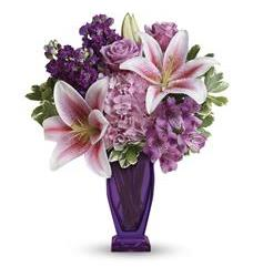 Teleflora's Blushing Violet Bouquet (TEV42-1A)