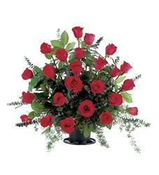 Blooming Red Roses Basket (TF209-3)